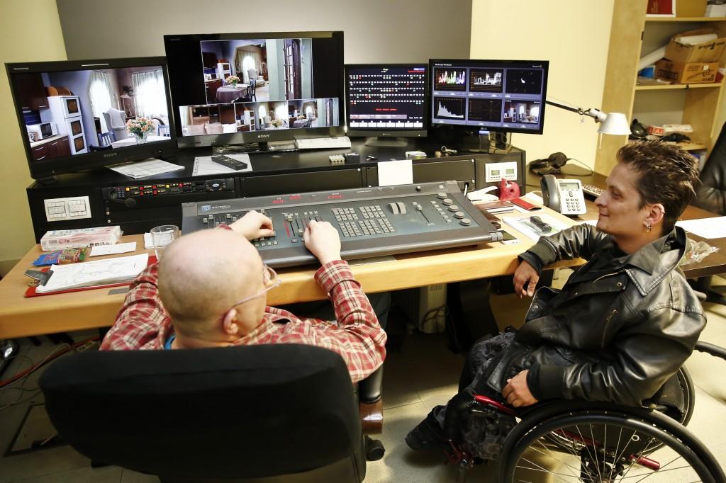 András a tv stúdióban